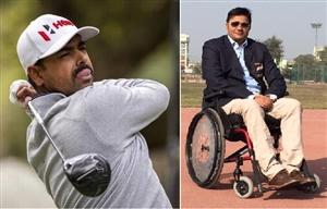 Corona to Indian para athlete Amit Saroha and Indian golfer Anibaran Lahiri