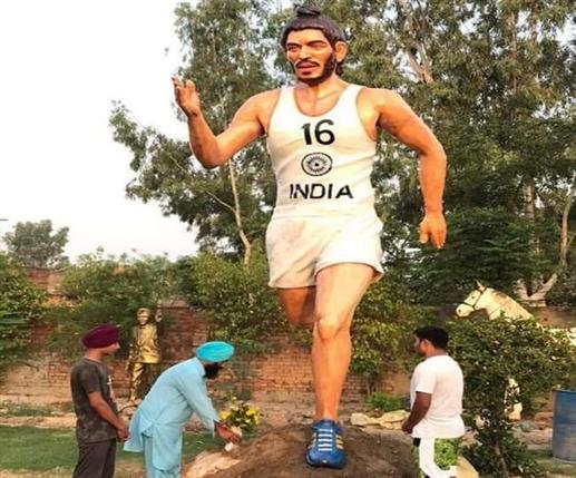 Moga Village musium has 8 feet high statue of milkha singh