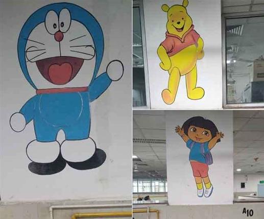 Doraemon Chhota Bheem Motu Patlu will drive away the fear of corona among children | ਡੋਰੇਮੋਨ ਭਜਾਏਗਾ ਬੱਚਿਆਂ ਅੰਦਰੋਂ Corona ਦਾ ਡਰ, ਛੋਟਾ ਭੀਮ ਦੇਵੇਗਾ ਹੌਸਲਾ, GNDH ਅੰਮ੍ਰਿਤਸਰ 'ਚ ਕੰਧਾਂ 'ਤੇ ਕਾਰਟੂਨ ਕਰੈਕਟਰ