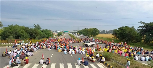 Employees protest in Morinda enters fourth day torch march in the city