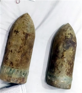 Cannonballs recovered from an old house bought six years ago Police are investigating