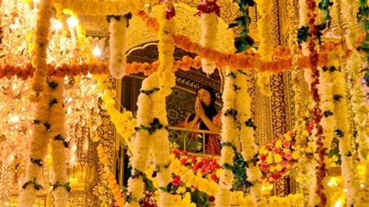 Flower decoration on the occasion of Guru Ram Das Ji birth Gurmat Samagam will be held for three days at Sri Harmandir Sahib