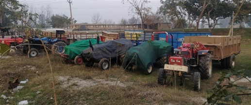 Five arrested in illegal mining case 11 tractor trolleys a JCB and a tipper recovered