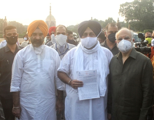Meeting the President Sukhbir said Come forward to save the farmers the country needs them
