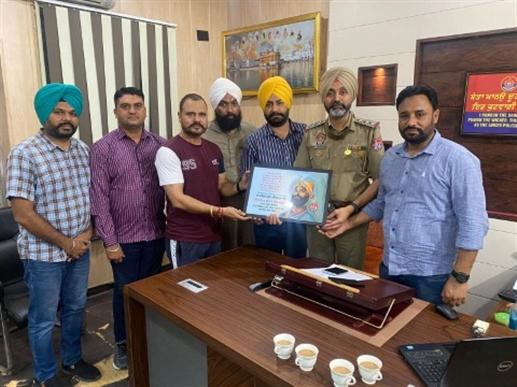 Royal Group Zirakpur Police Station Chief Zirakpur Inspector Unkar Singh Brar honored