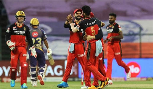 RCB seventh win in IPL 2020 beat Kolkata by 8 wickets Knight Riders could not even challenge Bangalore