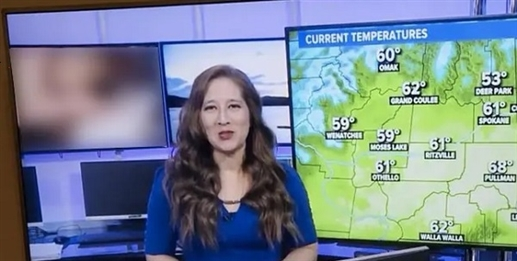 The anchor was telling the weather suddenly started playing pornographic videos on TV and then