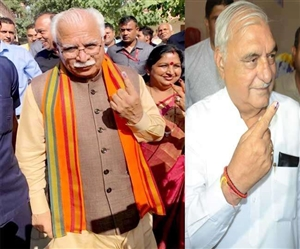 Haryana Election 2019 Exit Poll,Voting : ਐਗਜ਼ਿਟ ਪੋਲ 'ਚ ਭਾਰੀ ਬਹੁਮਤ ਨਾਲ ਭਾਜਪਾ ਵਰਕਰਾਂ 'ਚ ਜਸ਼ਨ, ਸੂਬੇ 'ਚ 64.23 ਫ਼ੀਸਦੀ ਮਤਦਾਨ