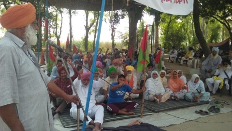 protest continued by farmers