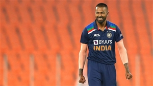 Hardik Pandya was not in a good position to bowl four overs