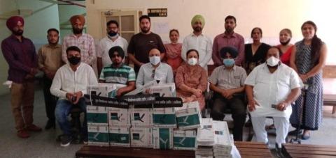 Fan distribute in civil hospital