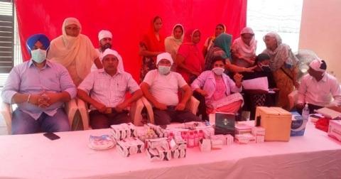 Free medical camp in Talwandi Arai