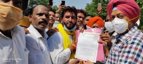 The rank and file workers staged a huge march in the Chief Minister city