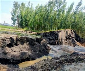 Watch : ਕਰਨਾਲ 'ਚ ਅਜੀਬੋ-ਗ਼ਰੀਬ ਘਟਨਾ, ਖੇਤਾਂ 'ਚ ਅਚਾਨਕ ਉੱਪਰ ਉੱਠਣ ਲੱਗੀ ਜ਼ਮੀਨ, ਜਾਂਚ 'ਚ ਜੁਟੇ ਮਾਹਿਰ