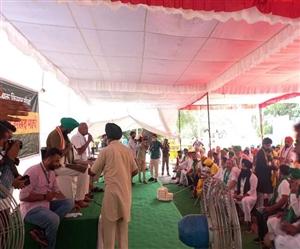 Delhi Kisan Andolan : 200 ਕਿਸਾਨਾਂ ਲਈ ਪ੍ਰਦਰਸ਼ਨ ਸਥਾਨ 'ਤੇ ਲਾਇਆ ਗਿਆ ਟੈਂਟ, ਸ਼ਾਮ 5 ਵਜੇ ਤਕ ਚਲੇਗਾ ਪ੍ਰਦਰਸ਼ਨ