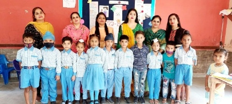 Rhythm  story telling competitions  young children at school