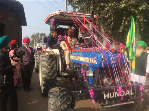 marriage on tractor