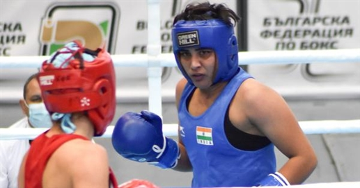 In the boxing tournament Jyoti Gulia defeated the two-time world champion