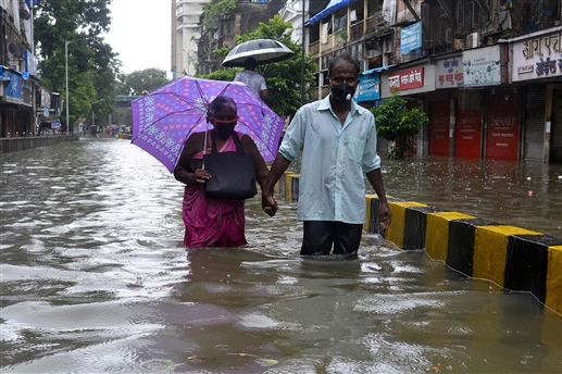 Heavy rains wreak havoc in Mumbai flooding homes and shops