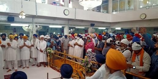 Sukhbir Singh Badal and Biba Badal paid obeisance at Takht Sri Damdama Sahib
