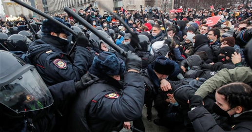 Protests over Navalny release illegal says Putin