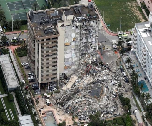 Miami area Building Collapses 40 year old building collapses in US 100 missing 102 rescued