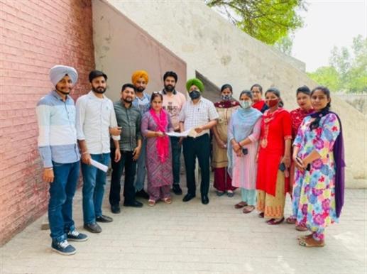 NREGA employees union Guruharsahai submits memorandum to BDPO