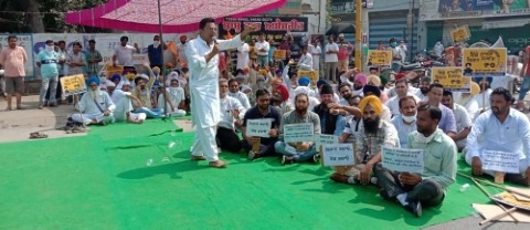 The Shiromani Akali Dal staged a protest against the Agriculture Bill