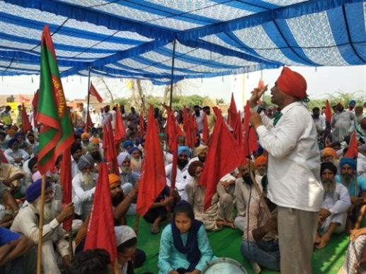 Farmers and allied organizations protest against anti-agriculture bills