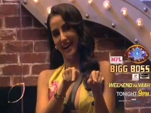 Bigg Boss 14 Weekend Ka Vaar Naura Fatehi gets boys to dance to Garmi song video goes viral