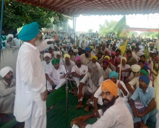 protest by farmer