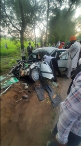 four persons died in road accident