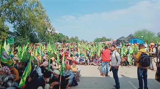 More than 20000 farmers rallied in Khanauri