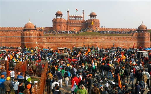 Public protest start agianst farmer protest after violance in red fort