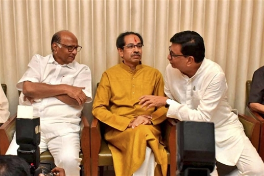 pawar and thorat meets uddhav