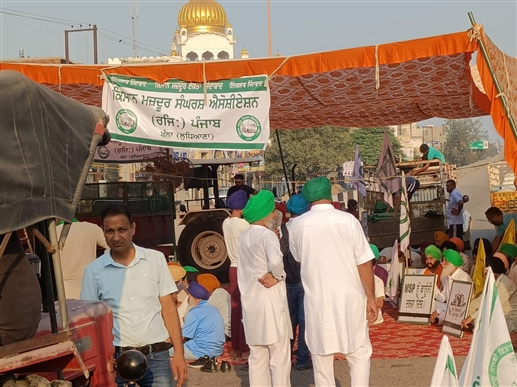 bharat bandh farmers blocked national highway in punjabs khanna
