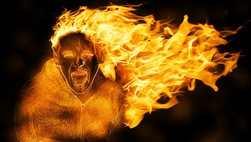 The fire of anger
