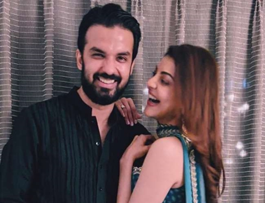 kajal aggarwal shares first photo with fiance gautam kitchlu to wish dussehra set to tie the knot on 30th october