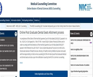 NEET MDS Counselling 2021 Updates : ਨੀਟ ਐੱਮਡੀਐੱਸ ਕੌਂਸਲਿੰਗ ਮੁਲਤਵੀ, ਚੈੱਕ ਕਰੋ ਅਪਡੇਟਸ