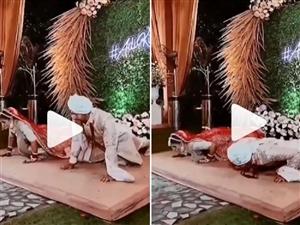 Viral Video : ਲਾੜਾ ਤੇ ਲਾੜੀ ਨੇ ਵਿਆਹ ਦੇ ਮੰਡਪ 'ਤੇ ਲਗਾਏ ਪੁਸ਼ਅੱਪ, ਵੀਡੀਓ ਵਾਇਰਲ