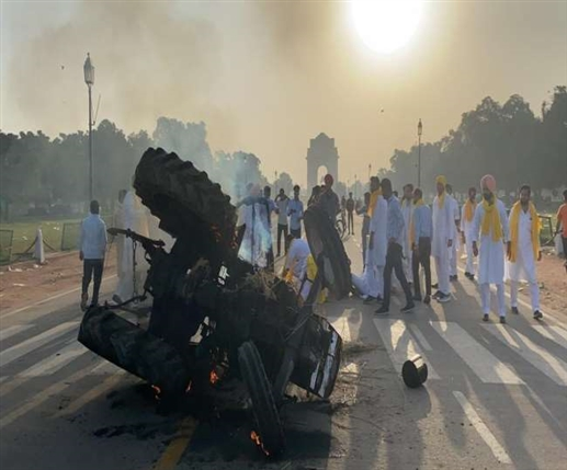 Punjab Youth Congress workers stage a protest