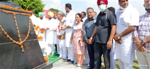 Chief Minister Charanjit Singh Channy Devotional offerings at Bhagat Singh memorial