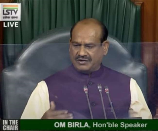 Parliament Monsoon Session Speaker warns rioting MPs action will be taken if incident is repeated