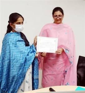 BLM Girls College receives District Green Champion Award