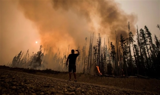 Wildfires in British Columbia will cause temperatures to rise