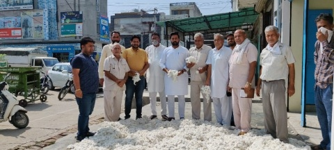 The price of cotton reached Rs 5,000 per quintal