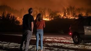 Fire erupts in California thousands flee
