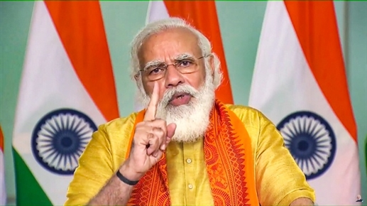 PM dedicates eight projects of Namami Gange to people