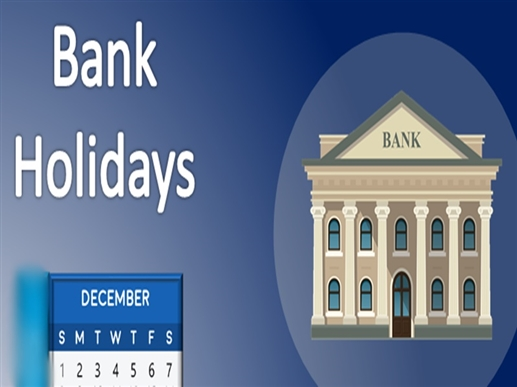 Banks closed 14 days in December check here bank holiday list